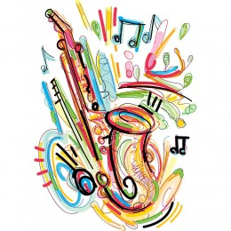 Greetings Card - Music